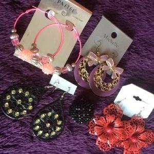 Womens Jewelry bundle , earrings , ring